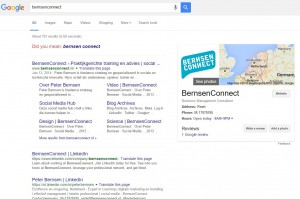 bernsenconnect peter bernsen Google mijn bedrijf knowledge graph
